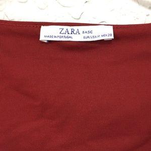 Zara Tops - Zara Layering Cami Tank Red Medium